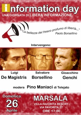 Information Day con S.Borsellino, Gechi, De Magistris + P. Maniaci